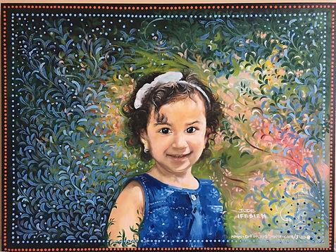 Portrait Of Natalie,Jude Ifesieh,Oil Acr