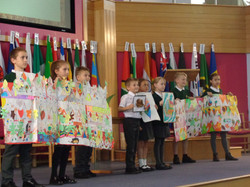 Year 3 Harvest Art at the local church H