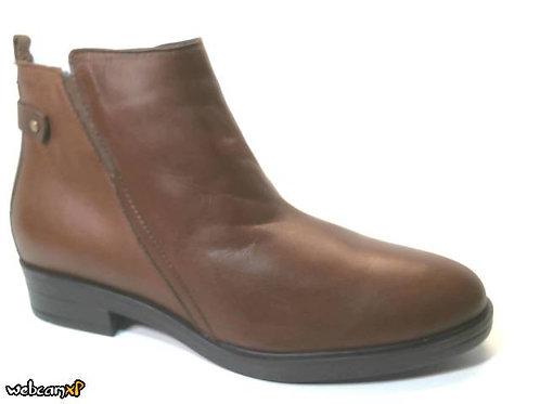 Botín de velvet color cuero (30377)