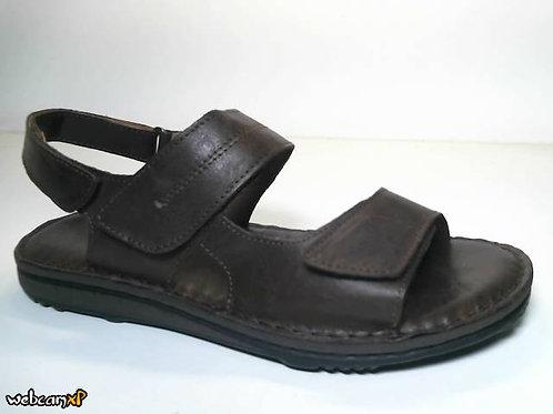 Sandalia de piel color marron (31926)
