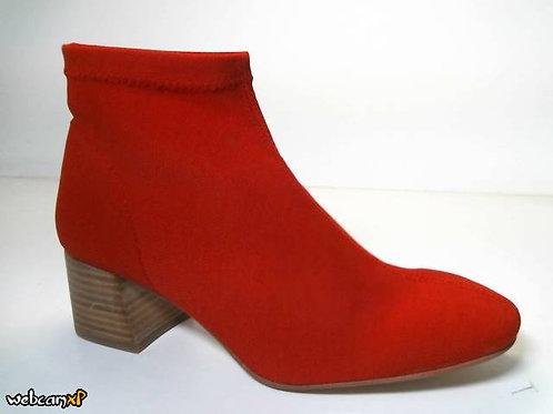 Botín de licra elastica color rojo (31858)