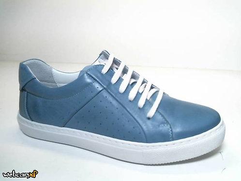 Deportivo de piel color azul (31758)