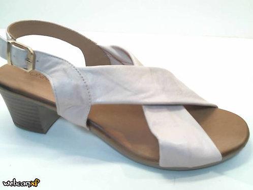 Sandalia de piel color beige (32461)