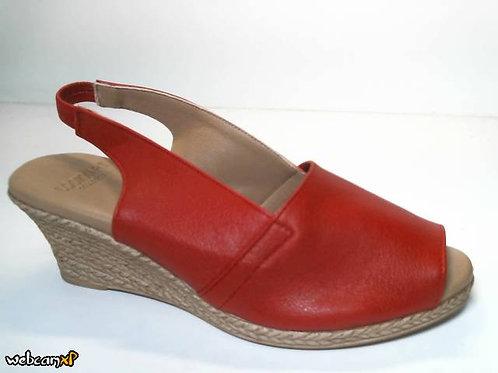 Sandalia de piel icaro color rojo (31877)