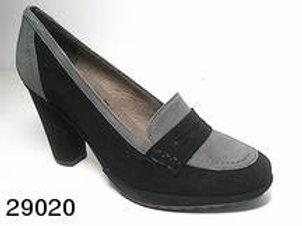 Zapato de vestir de serraje color negro (29020)