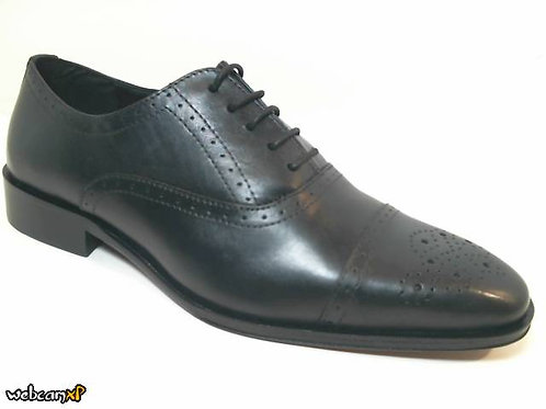 Zapato de vestir de piel color negro (31983)