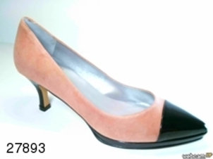 Zapato de vestir de ante-charol color gris (27893)
