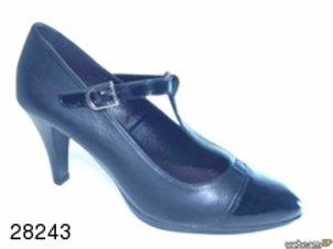 Zapato de vestir de charol-bacardi color negro (28243)