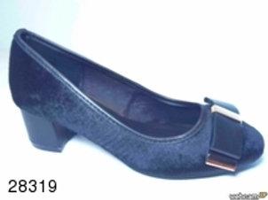 Zapato de vestir de tose color negro (28319)