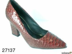 Zapato de vestir de snake color rojo (27137)