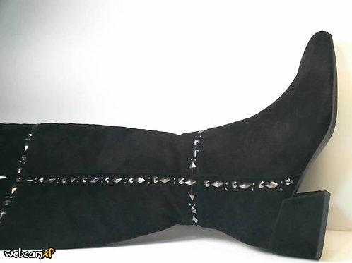 Bota de suede color negro (30924)