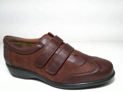 Zapato de vestir de napa-nobuc color burdeos (29172)