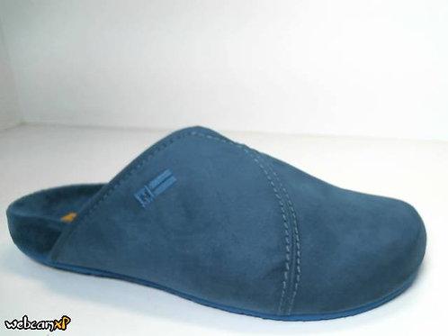 Zapatilla de casa de microsuede color azul (31542)
