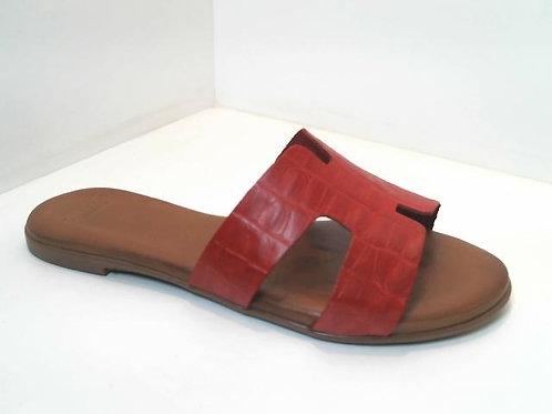 Sandalia de croco color burdeos (32537)