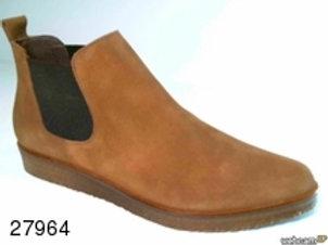 Botín de serraje color cuero (27964)