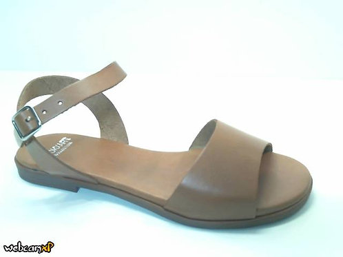 Sandalia de vaquetilla color cuero (32365)