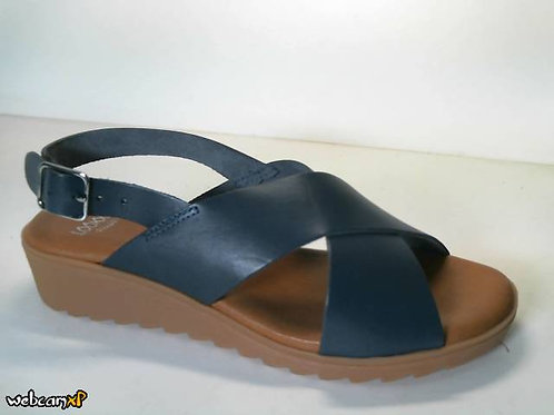 Sandalia de vaquetilla color azul (31730)