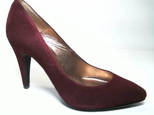 Zapato de vestir de ante color burdeos (29653)