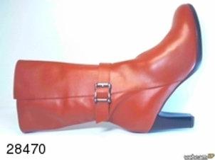 Bota de piel color cuero (28470)