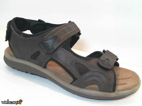 Sandalia de piel color marron (31987)
