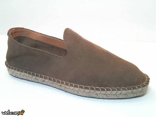 Zapato tipo casual de serraje color cuero (32354)