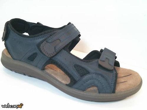 Sandalia de piel color azul (31986)