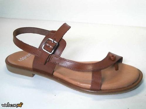 Sandalia de vaquetilla color cuero (31737)