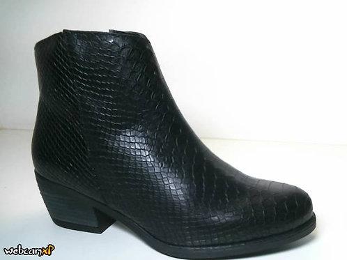Botín de piel anaconda color negro (31677)