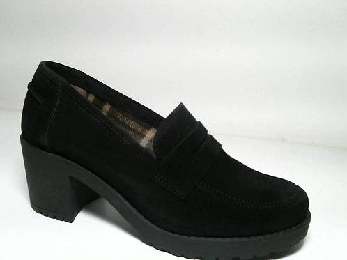 Zapato de vestir de serraje color negro (29368)