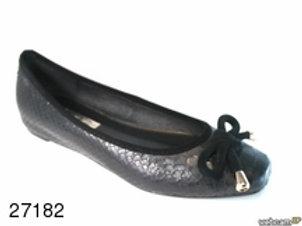 Zapato de vestir de boa color negro (27182)