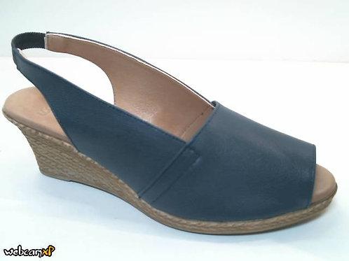 Sandalia de piel icaro color azul (32401)