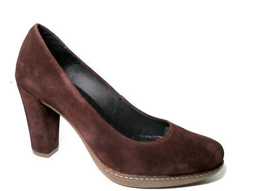 Zapato de vestir de serraje color burdeos (29373)