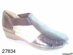 Sandalia de grabado color beige (27834)