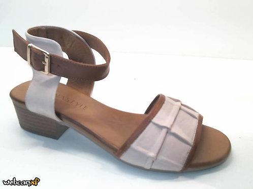 Sandalia de piel color cuero (32465)