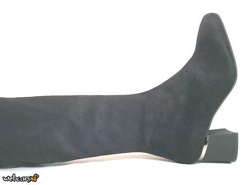 Bota de microfibra elastica color negro (32129)