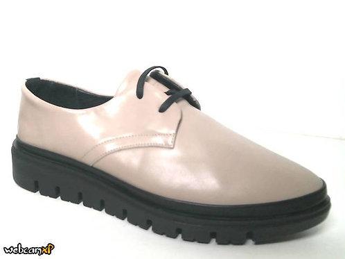 Zapato tipo casual de piel color beige (32097)