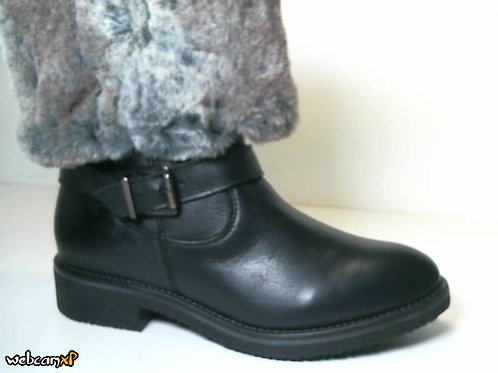 Botín de piel de vitelo color negro (31655)