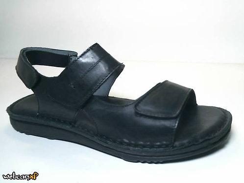 Sandalia de piel color negro (31927)