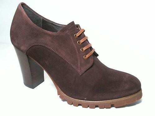 Zapato de vestir de serraje color marron (29628)