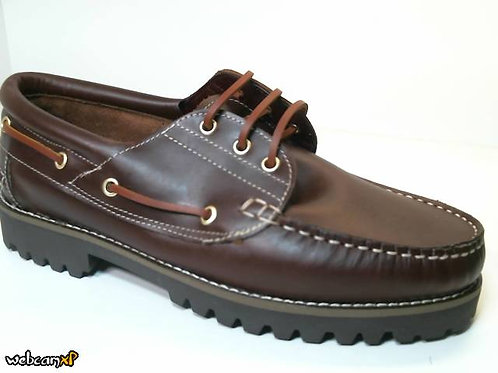 Náutico de pull-piso marron color cuero (30786)