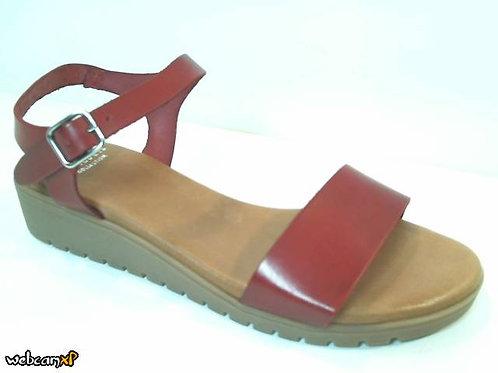 Sandalia de vaquetilla color rojo (32000)