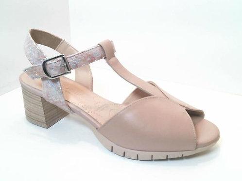 Sandalia de piel color hielo (32551)
