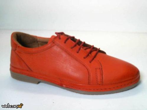 Deportivo de piel color rojo (31829)