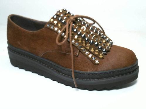 Zapato de vestir de horse color cuero (29498)