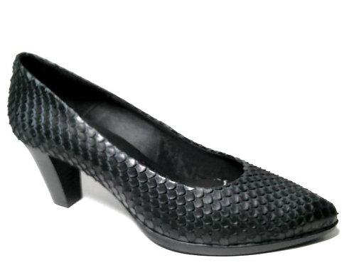 Zapato de vestir de serpiente color negro (29399)