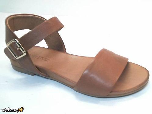 Sandalia de piel color cuero (32433)