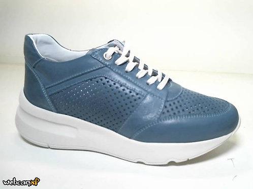 Deportivo de piel suave color azul (31761)