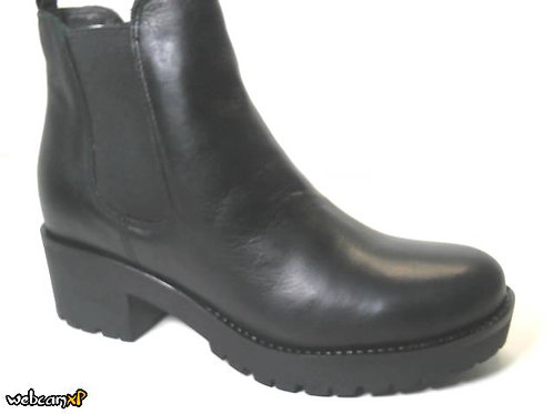 Botín de velvet color negro (30371)