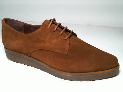 Zapato de vestir de serraje color cuero (29054)