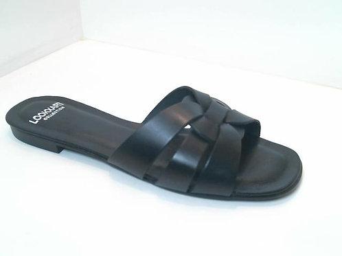 Sandalia de vaquetilla color negro (32493)